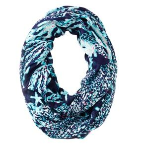 Lilly Pulitzer Riley Navy Infinity Loop Scarf